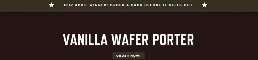 Vanilla Wafer Porter Wins!