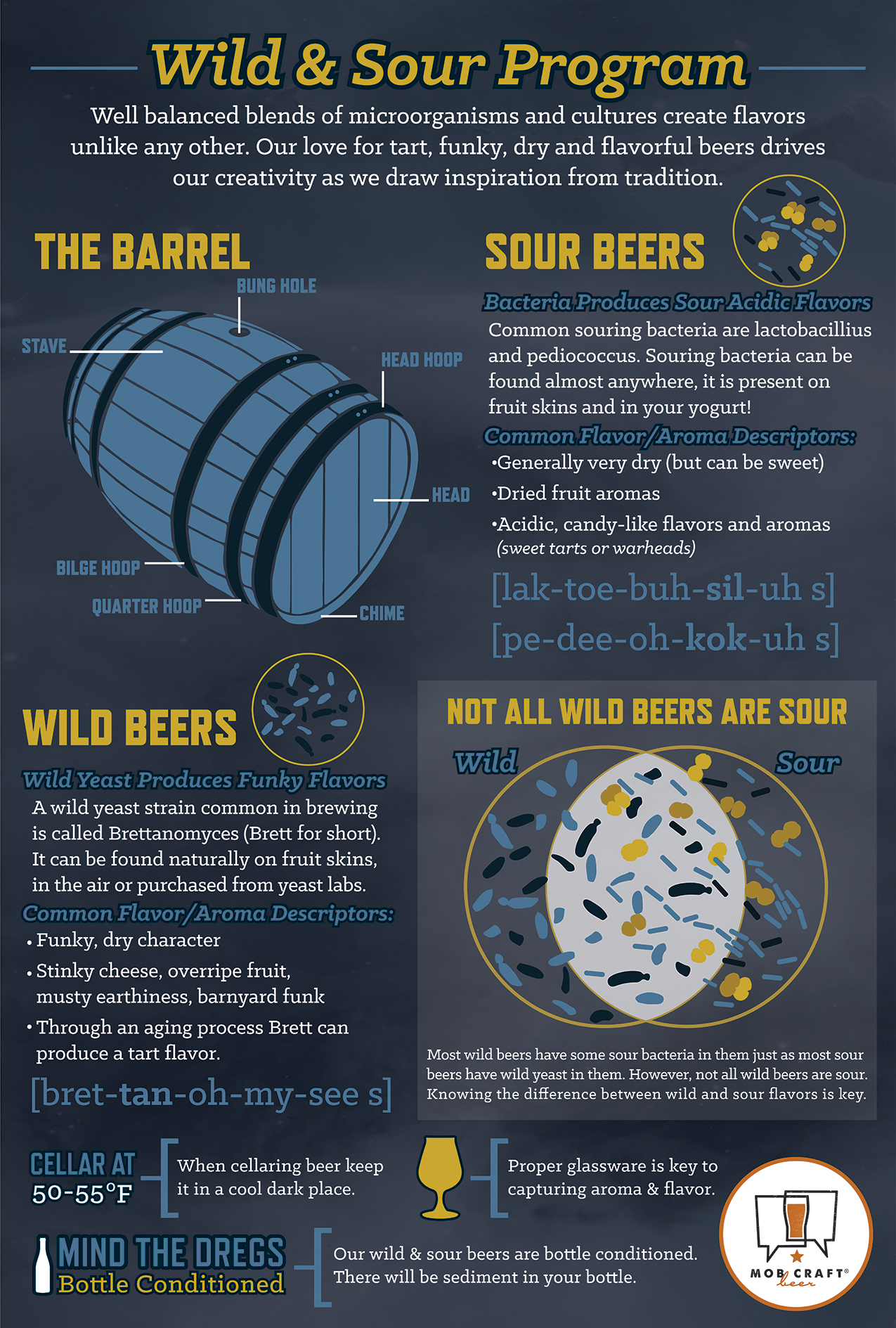 MobCraft Beer Wild and Sour Poster
